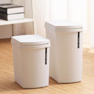 北欧创意按压式有盖垃圾桶