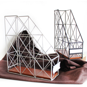 复古铁艺桌面收纳架创意书架